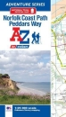Norfolk Coast Path and Peddars Way A-Z Adventure Atlas
